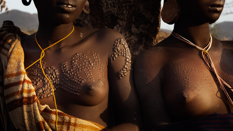 Women with scarred torsos and chests are considered particularly sensual and attractive.