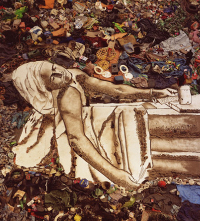 Final Tiaõ photographic print entitled Marat/Sebastiao–Pictures of Garbage Photograph by Vik Muniz, courtesy of Vik Muniz Studio