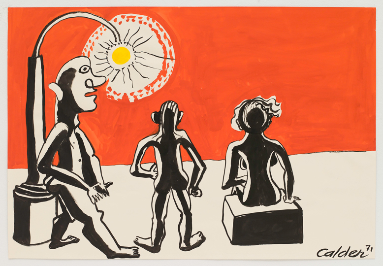 <em>Alexander Calder</em> Under the Lamplight, 1971 gouache on paper 29-1/2 x 43-1/2 inches © 2011 Calder Foundation, New York / Artists Rights Society (ARS), New York Photo by: Kerry Ryan McFate / Courtesy The Pace Gallery