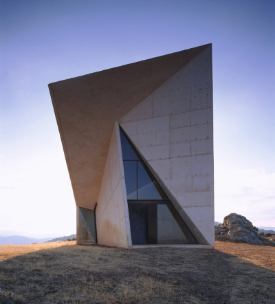 Chapel, Valleaceron, Spain, 2001.  By Sancho Madridejos Architecture Office, from Closer to God, Copyright Gestalten 2010. (Click image to enlarge.)