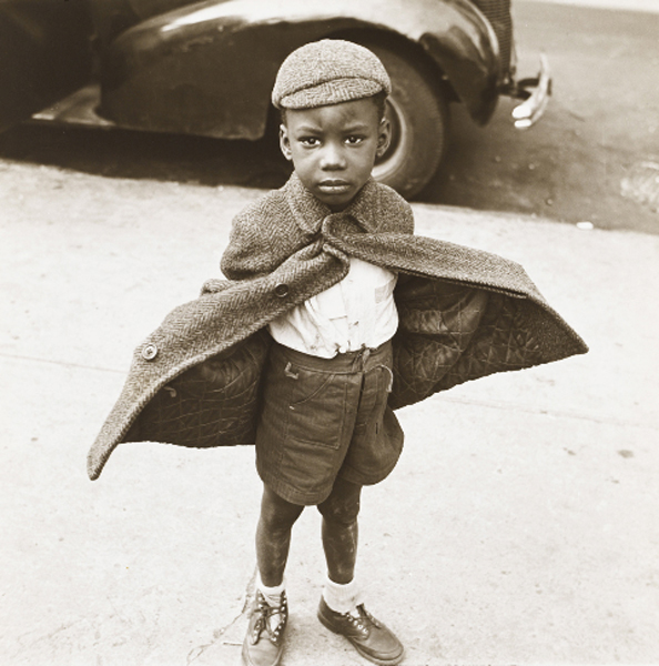 Jerome Liebling, Butterfly Boy, New York, 1949, gelatin silver print.  The Jewish Museum, New York, Purchase: Mimi and Barry J. Alperin Fund.  © Estate of Jerome Liebling.