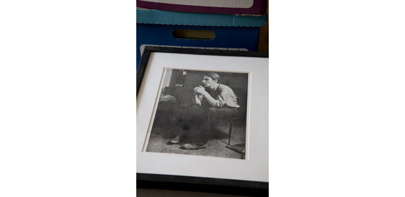 A framed portrait of Jack Smith shot by Jonas in the Sixties. Photography by Derek Peck