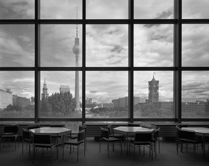 Canteen with view facing Marx Engels Forum, 1996.