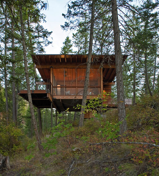 <em>Wood Cabin on Lake Flathead, Polson, MO.</em> By Andersson Wise