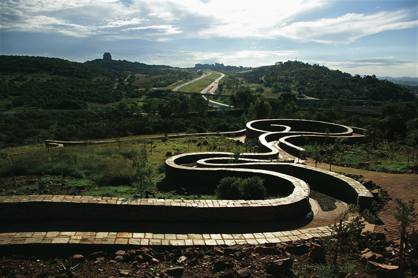 Mveledzo (Path of Contemplation) at Freedom Park, Johannesburg, South Africa, 2011.  By GREENinc.