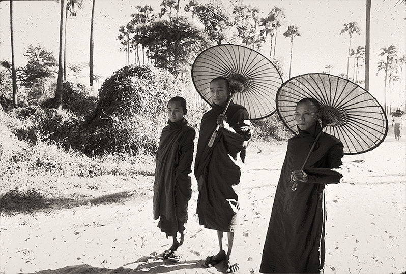 <em>Monk with Parasols in Pagan, Burma</em>, Terri Gold World Imagery