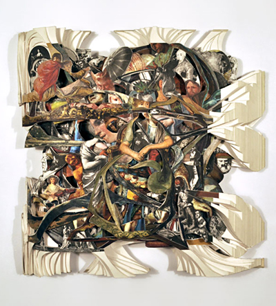 Brian Dettmer <em>Goya</em> 2010 Altered Book Image, Courtesy of the Artist and MiTO Gallery