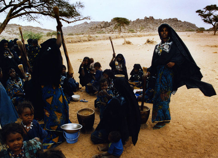 Tiana Markova Gold: Tuareg women prepare for a wedding in the village of Awkade-de, in northern Niger.