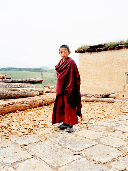 <em>Child Monk, Songzanlin Monastery, China</em>, Dan Hallman