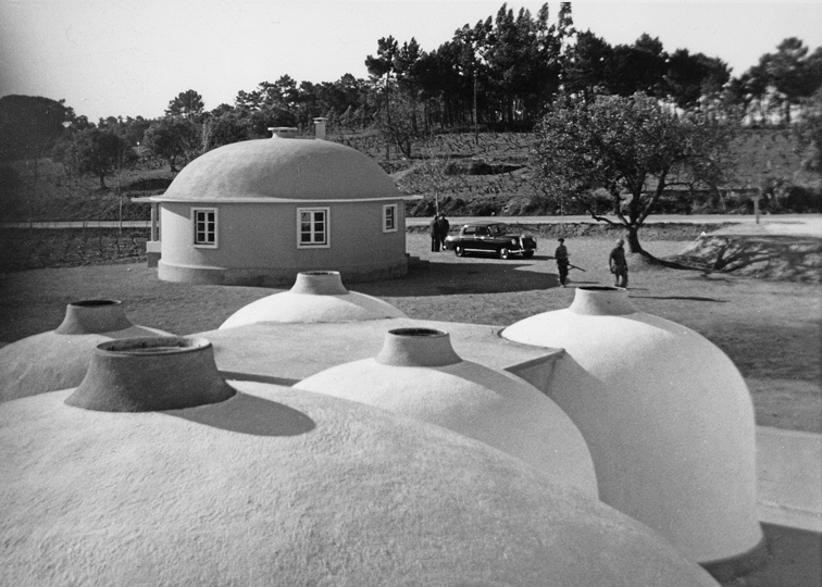 Airforms used for wine storage, Portugal, 1958.