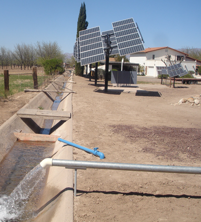 Solar Water Pump Testing Site in Safford, AZ/SunPumps