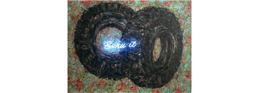 Ayman Baalbaki, Burn it, 2008, Private Collection, Beirut
