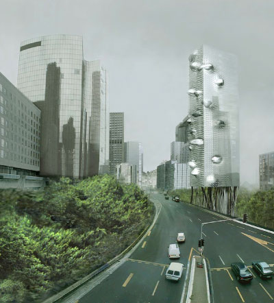 (un)plug, design for an office tower in Paris