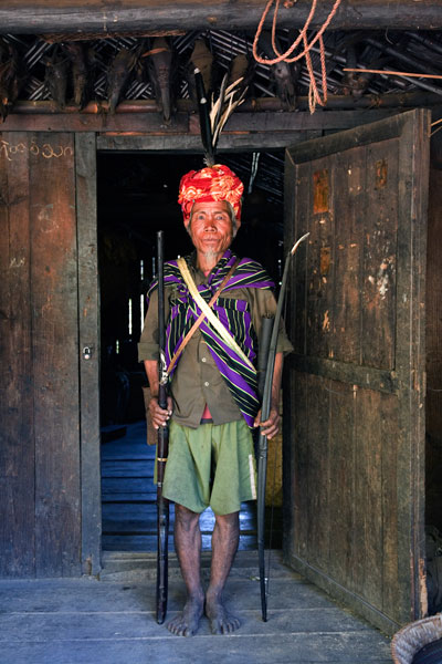 Village hunter, Chin State, Burma. © Andrew Geiger