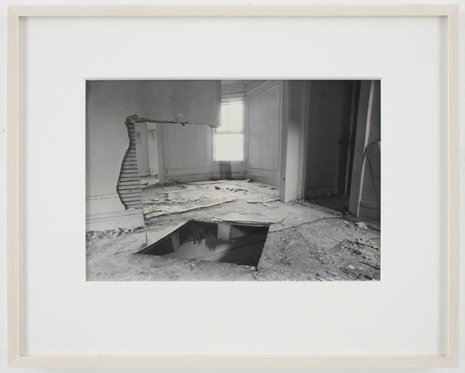 BRONX FLOOR FLOOR HOLE 02 Gordon Matta-Clark Bronx Floor: Floor Hole, 1972 courtesy of the Estate of Gordon Matta-Clark and David Zwirner