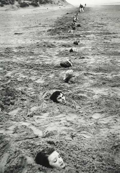 Keith Arnatt <em>Liverpool Beach Burial</em>, 1968