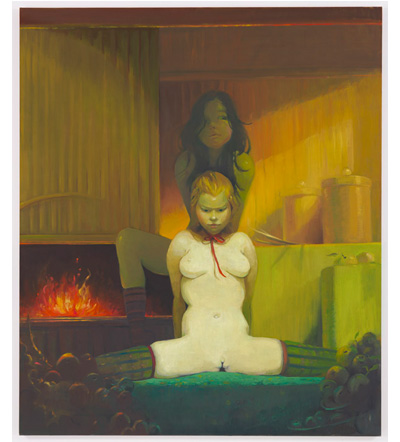 Lisa Yuskavage Fireplace