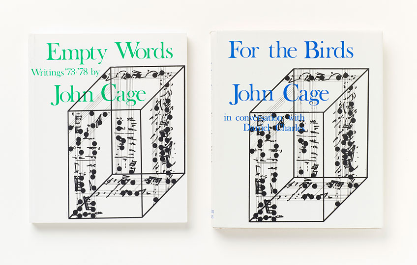 Books by John Cage from the MCA Chicago Artists' Book Collection