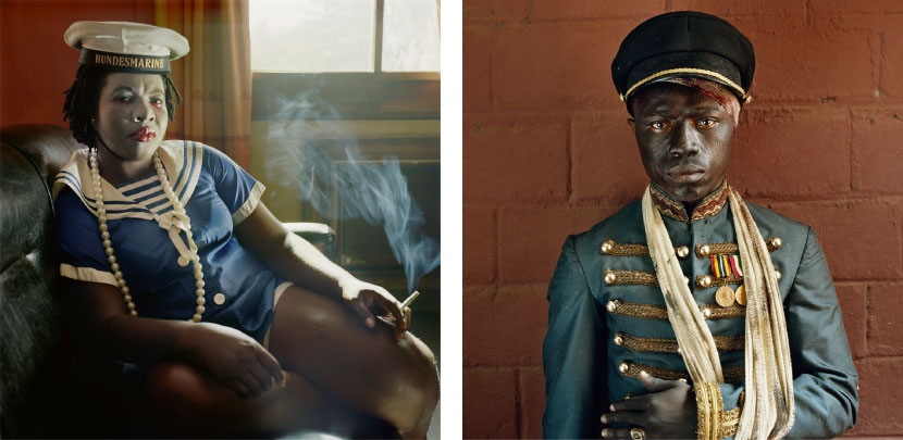 Left: Pieter Hugo Obechukwu Nwoye, Enugu, Nigeria, 2008 From the series Nollywood Digital C-Print © Pieter Hugo, Courtesy Yossi Milo Gallery, New York Right: Pieter Hugo John Dollar Emeka, Enugu, Nigeria, 2008 From the series Nollywood Digital C-Print © Pieter Hugo, Courtesy Yossi Milo Gallery, New York