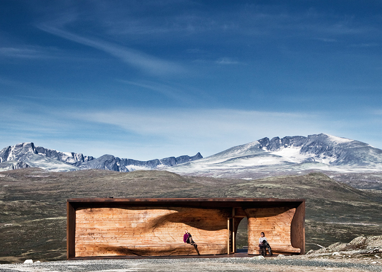TVERRFJELLHYTTA - Norwegian Wild Reindeer Centre Pavilion, Hjerkinn, Norway, 2011.  By Shøhetta Oslo AS.