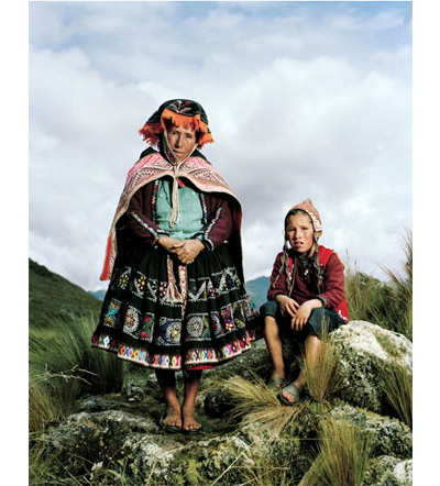 All photographs by Mathias Braschler and Monika Fischer, courtesy of Hatje Cantz. Juliana Pacco Pacco, llama herdswoman. Paru Paru, Peru.
