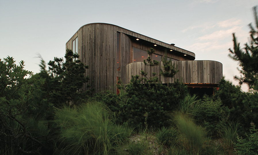 Rosenthal House, Seaview, NY, 1972.  Architect Horace Gifford.