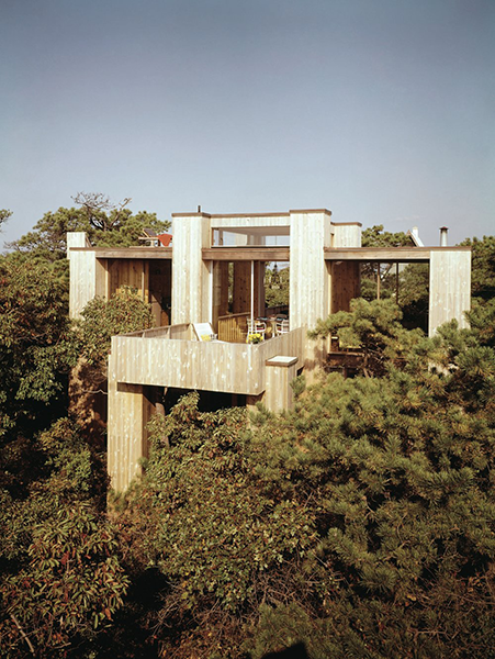Fishman House, Fire Island Pines, NY, 1965.  Architect Horace Gifford.