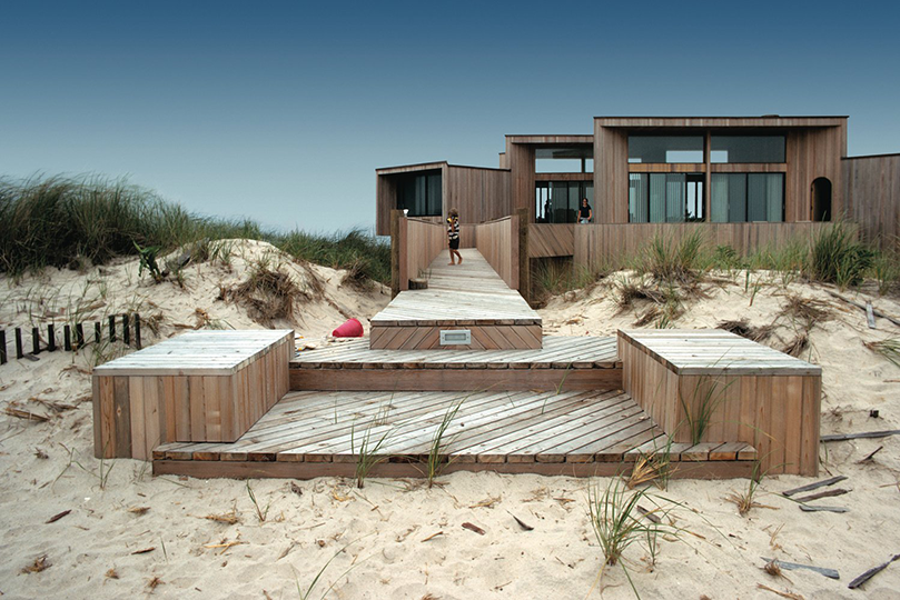 Pilson House, Westampton Beach, NY, 1971.  Architect Horace Gifford.