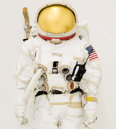 <em>Extravehicular Mobility Unit (EMU)</em>, Mixed Media PHOTO: Josh White
