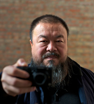 <em>Ai Weiwei in a scene from Alison Klayman's AI WEIWEI: NEVER SORRY.</em>  Photo by Ted Alcorn.