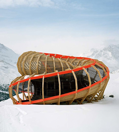 Entree Alpine Panoramic Structure, Alice Studio/Atelier de la Conception de L'Espace, Valais, Switzerland.