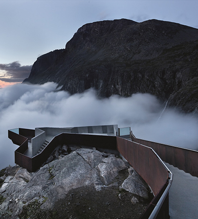 Trollstigen National Tourist Route Project, Trollstigen - Møre and Romsdal, Norway, 2005-2012.  By Reiulf Ramstad Architects.