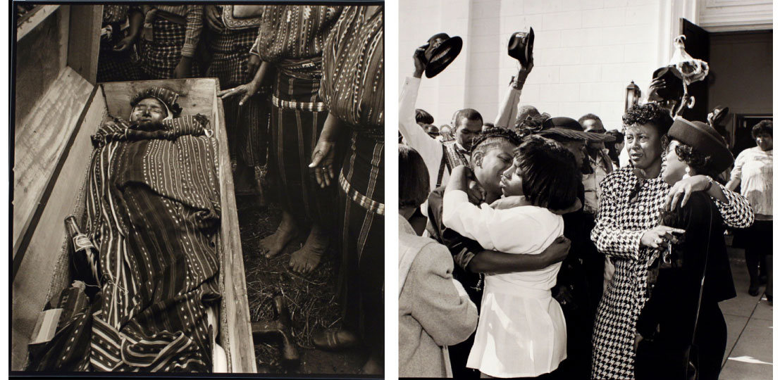 Left:  Five Whole Ounces/That's a Lot, Solola. Guatemala, 1979 (1986). Right: After a Funeral, New Orleans. (1992).
