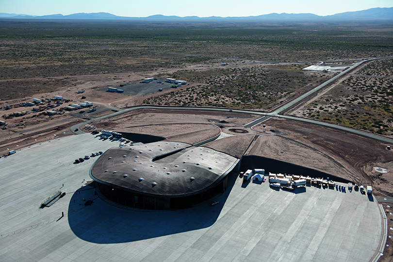 Spaceport America, Las Cruces, New Mexico, 2011.  By Foster + Partners, from <em>The Sky's the Limit.</em>  Copyright Gestalten, 2012.
