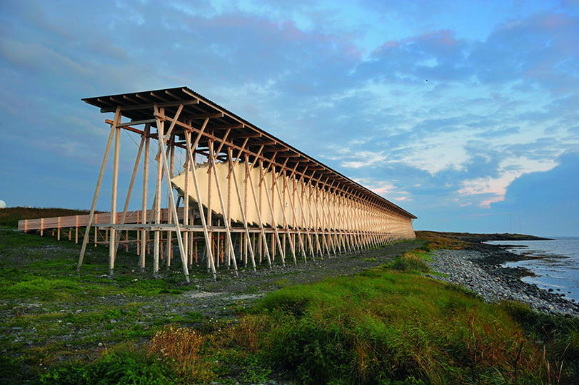 Steilneset: Witch Trial Memorial, Vardo, Norway, 2011.  By Peter Zumthor & Louise Bourgeois, from <em>The Sky's the Limit.</em>  Copyright Gestalten, 2012.