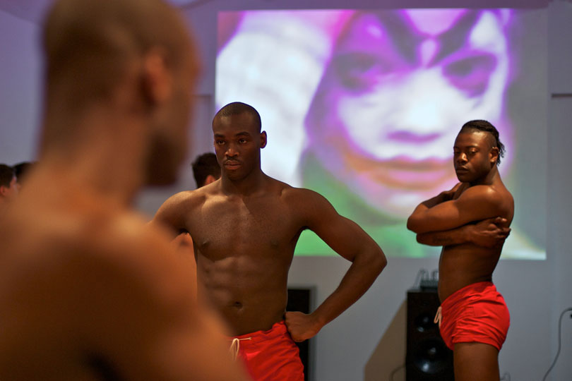 <em>DEM performed at Cell Project Space London</em>, 2012 © Eddie Peake Photocredit: Damian Jaques