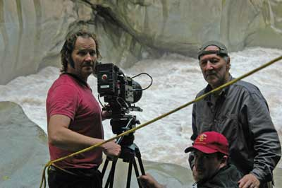 Werner Herzog directing My Son, My Son, What have you done? Photography by Lena Herzog. Courtesy of Absurda.