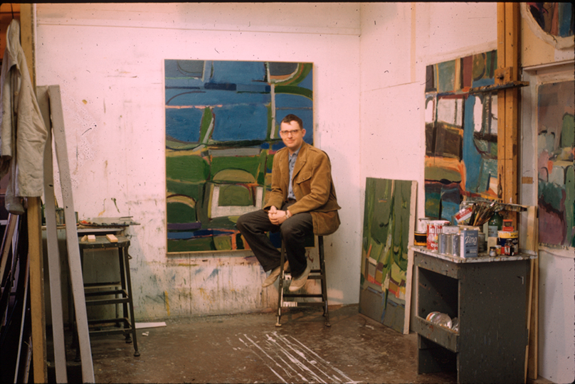 George Woodman in Studio in Italy 1960 - Woodman Family Courtesy Betty and George Woodman / Lorber Films